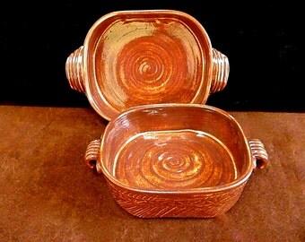 PERSONAL CASSEROLE, Casserole dish, baking dish, Stoneware Casserole