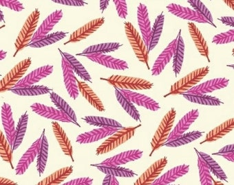 Windham Fabrics - Flower Pedals Collection - Feathers in Pink Organic