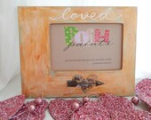 NEW loved-picture frame, gold faux, Valentine Special, holds 4x6 photo
