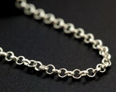 Sterling Silver Rolo Chain - 1.65mm - Custom Finished Lengths or By The Foot -  Made in the USA