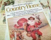 Country Home Magazine, 1984, History of the Christmas Card, craft making