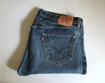 Vintage Men's 90's Levi's 501XX, Jeans, Red Tab, Denim (W36 x L31)