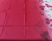 Flower Design Furoshiki Wrapping Cloth Red White 一