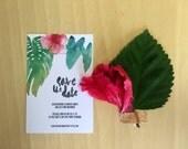 Printable Wedding Invitation - Tropical Save The Date Wedding Card (1 Piece)