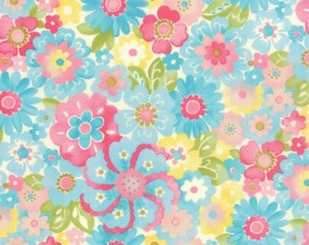 Blossom in Sky COLETTE by Chez Moi ... Blue colorway ...choose your cut Moda 33052 12