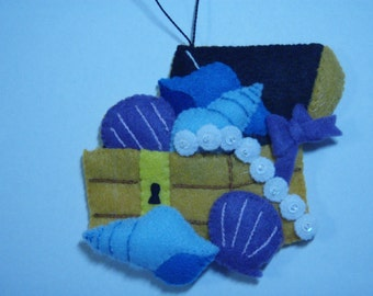 Janlynn Felted TREASURE CHEST ornament from the NEMO Collection