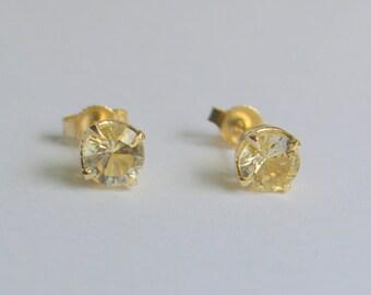 5mm Scapolite Earrings in 14 K Yellow Gold