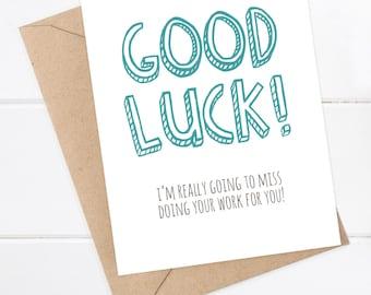 Funny goodbye card | Etsy
