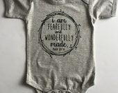I am Fearfully and Wonderfully Made Bodysuit - Available in various colors and Sizes