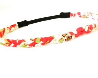 Fashion Headband, Faith and Fit Scrappy Band in Orange Passion
