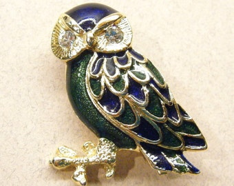 Vintage brooch, vintage pin, owl pin, enamel pin,  brooch pin, figural pin, Animal CHARITY DONATION