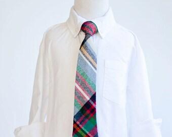 Necktie, Neckties, Boys Tie, Baby Tie, Tie Necktie, Plaid, Wedding Ties, Ties, Plaid Tie, Ring Bearer - Fall/Holiday Multi Plaid Flannel
