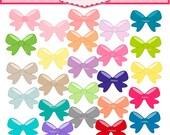ON SALE Bow clip art -ribbon clip art, instant download Digital clip art
