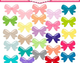 ON SALE Bow clip art -ribbon clip art, instant download Digital clip art