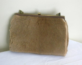 Vintage Genuine Kangaroo Fur Purse, Designer Eva Bags, Missing Strap AS IS