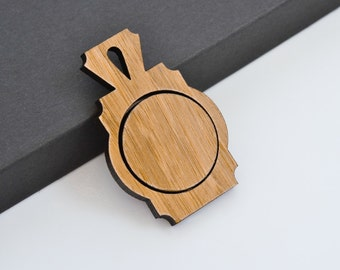 "1"" Embroidery Hoop Art Deco Pendants Small 25mm Laser Cut from Bamboo Wood EHPAD-25-AB"