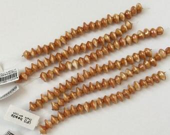 Apricot UFO Chalk Beads, 20 Beads Per Strand, 7x11mm