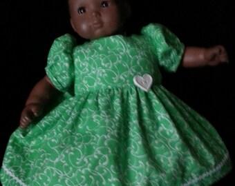 American Girl  Bitty Baby  lime green doll dress