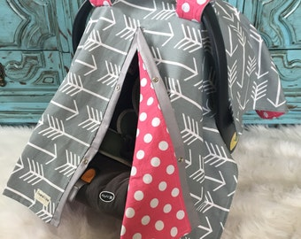 Car seat canopy Baby Girl / car seat cover / nursing cover / carseat canopy / carseat cover