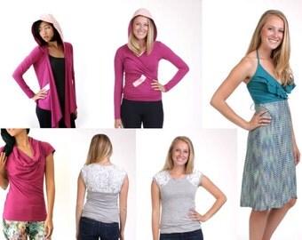 SMALL, Sample Sale, 18 Different Pieces, Organic Sweater Wrap, Strapless Maxi Dress, Tshirt Dress, Silk Skirt, Wrap Dress, Womens Cowl Neck