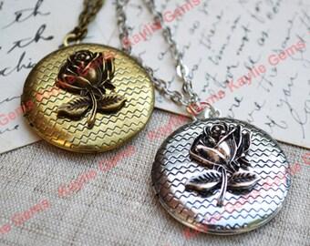 Rose Lockets Pendant Necklace