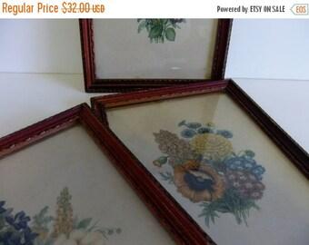 SUMMER Sales Event Vintage Flower Prints Donald Art Co Inc Numbered Made in USA Floral wall hanging Framed Art