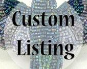 Custom listing for Bekah Medium Pink Bird Figurine