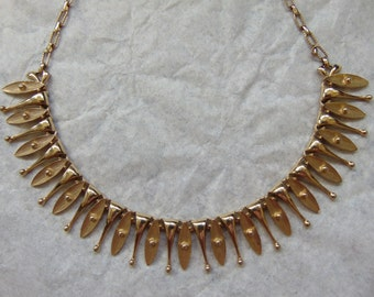 Vintage Gold Toned Sarah Coventry Necklace Star Burst Statement Piece