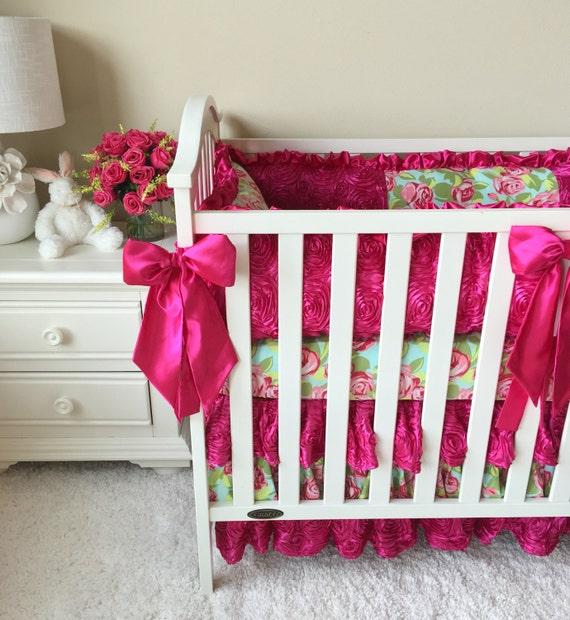 Crib Sets for Girls Roses Crib Sets Custom Baby Bedding