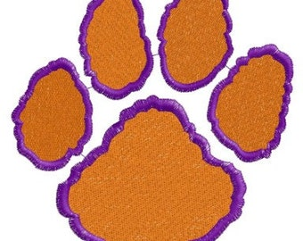 Paw Print Embroidery Design Initials