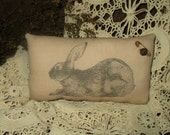 Primitive rabbit pillow