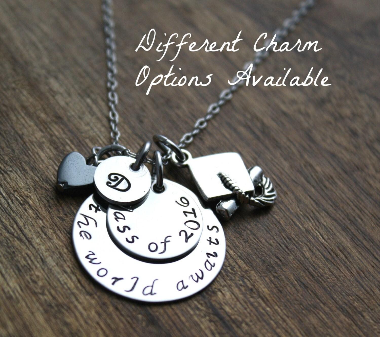 graduation necklace personalized graduation by