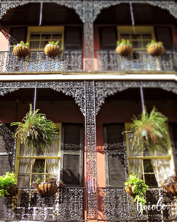 Lacey ironwork new orleans art french quarter balcony by for French quarter balcony