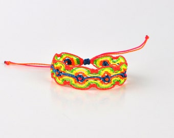 Neon string bracelet. Neon thread bracelet. Neon jewelry. Waterproof bracelet. Neon cord bracelet. Best friend gift. Expandable bracelet