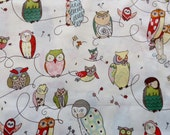 Alexander Henry Spotted Owl Fabric, natural