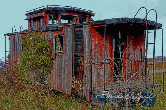 Abandoned Caboose Farmers Kentucky Giclee Print on Fine Art Paper or Canvas