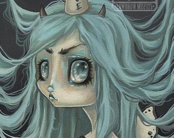 Fairy girl lowbrow misfit fantasy art print big eye pop surreal - Fairy 2