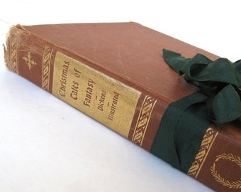 Christmas Tales of Fantasy By Charles Dickens, The Haunted Man, Battle of Life, Christmas Dickens Book, Vintage Charles Dickens, Old Book