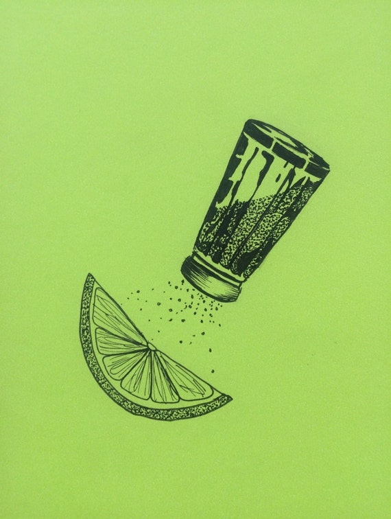 minimalist ink print: Margarita