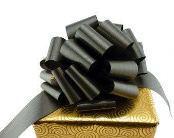 6 Large Black Pull Bows Gift Wedding Party Memorial Funeral Decorations