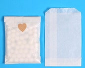 Bulk Mini Glassine Bags, Glassine Paper Favor Bags, Wedding Favor Bags, Candy Buffet Bags, Wedding Confetti Bags, Bakery Bags (100)