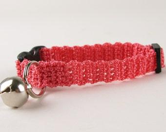 Cat Collar Kitten Collar Crochet Collar Watermelon Pink