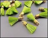 4 pcs fresh apple green color tassels, colorful tassles, tassel accessories 2049G-AG