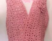 Crochet Organic Cotton Wrap, Shawl, Wrap, Crochet, Women, Clothing, Accessory, Poncho, Crochet Wrap, Crochet Shawl, Sweater, Organic