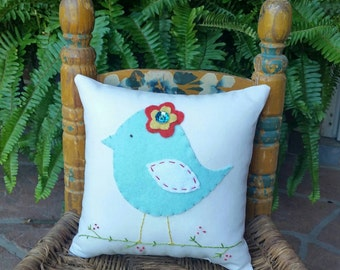 Little Bird Tooth Fairy Accent Pillow