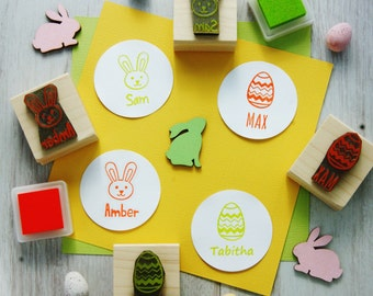 Personalised Children's Easter Rubber Stamp - Personalized stamp - Easter Gift - Bunny Rubber Stamp - Easter Egg Stamp - Easter craft