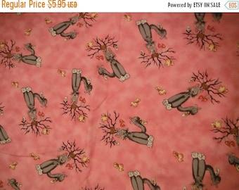 Fun Cat n Heart Fabric--Hard Find---LAST Piece -- 40-70% off Patterns n Books SALE