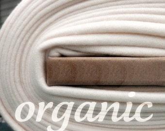 SALE Today Organic Cotton Fleece- Yard Yardage - Domestically Made GOTS Certified - Wide Cream Ivory Eggshell