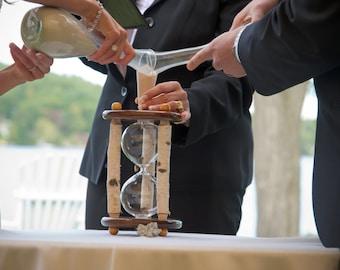 Heirloom Wedding Hourglass - The Adirondack White Birch Wedding Unity Sand Ceremony Hourglass