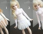 Lace shirt for slim Mini Super Dollfie MNF Minifee Moe A-line Fairyland MSD